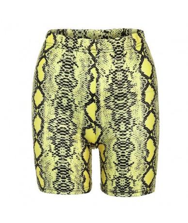 2019 Summer Fashion Women Summer Snakeskin Print Sports Casual Cycling Short DIY Casual Solid Hot SALE 9606 G0711 - Green - ...