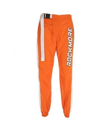 Fashion Panelled Letter Printed Buckle Stretch High Waist Pants Women 2018 Pencil Pants Streetwear Jogger Pants Bottom - Ora...