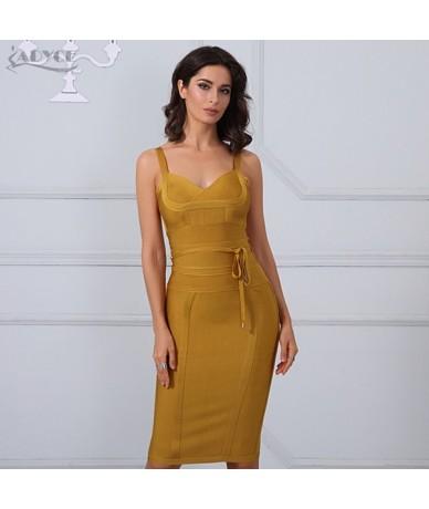 Women Summer Bandage Dress 2019 Sexy Celebrity Party Dress Nightclub Spaghetti Strap Bodycon Club Dress Vestidos - 1 - 42393...