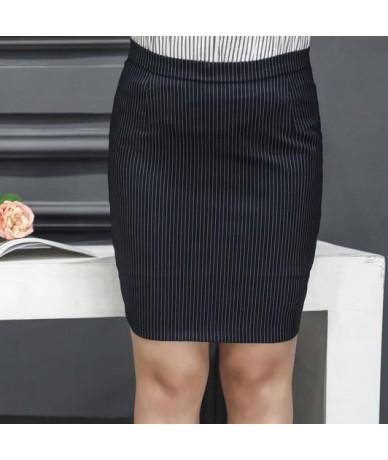 Plus Size 9XL Summer Skirt Women Skirts Pencil Gothic Skirts Printed Striped High Waist Skirts Faldas Mujer Moda DJ755 - Bla...