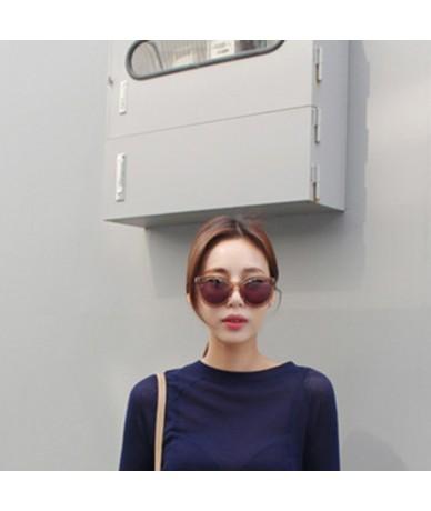2019 Summer Harajuku T shirt Women See-through Slim korean Tshirt Short Sleeve Tops Black Green Purple White Blue - Blue - 4...