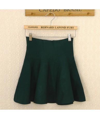 2015 New Autumn Winter Short Skirts Woman High Waist Knitting Woolen Skirt Female Plus Size Pleated Skirt C028 - 3 - 4W35053...