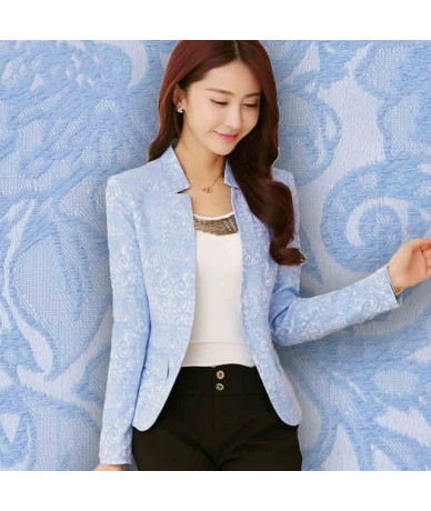 2019 Women Basic Coats Stand Collar Small Suit Jacket Female Slim Small Suit Blazer Plus Size Work Wear Blazer Feminino C234...
