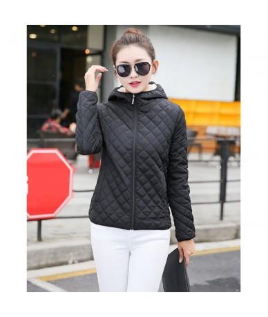 Winter Outerwear Parker Womens short lambswool Plus velvet warm Coat Thin and light Hooded Slim Cotton jacket Female 22 - bl...