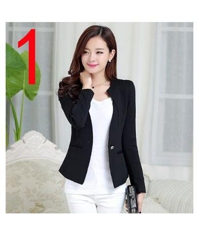 New J61269 Candy Color Blazers Women Business Suit Blazer jacket women blazer mujer plus size korean Women - 61269 Brown - 4...