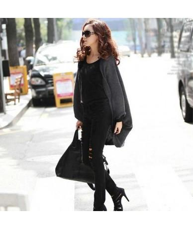 2018 New Fashion Women Sweater Casual Loose Shawl Batwing Sleeves cardigan Lady Knit Sweater Coat Woolen Women Cardigans Jac...