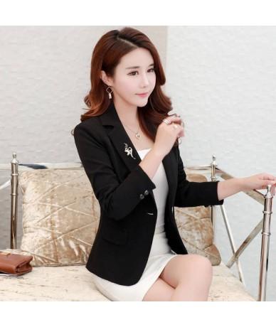 3XL Plus Size Blazer Women Slim Small Suit Jacket Female Work Office Blazers Women Jacket Blaser Feminino Short Suit Coat C5...