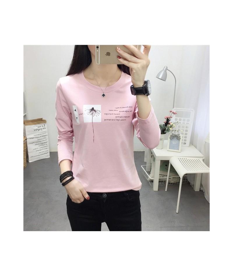 autumn korean casual loose black T shirt Women stripe T-shirts Printed Funny Tee Shirt For Female Top Clothes long Sleeve Ts...