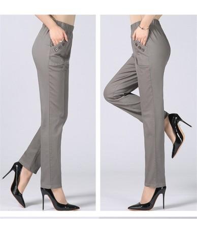 Plus Size 5XL High Waist Stretch Long Pants Women Cotton Straight Trousers Women Pantalon Femme Work Office Ladies Pants C43...