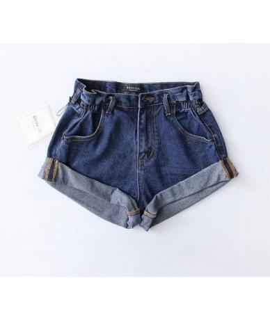 5 color Hight Street High Waist Roll Up Cuffs Short Denim Shorts Ripped Denim Short Pants Sexy Summer Wide Leg Short Jeans W...