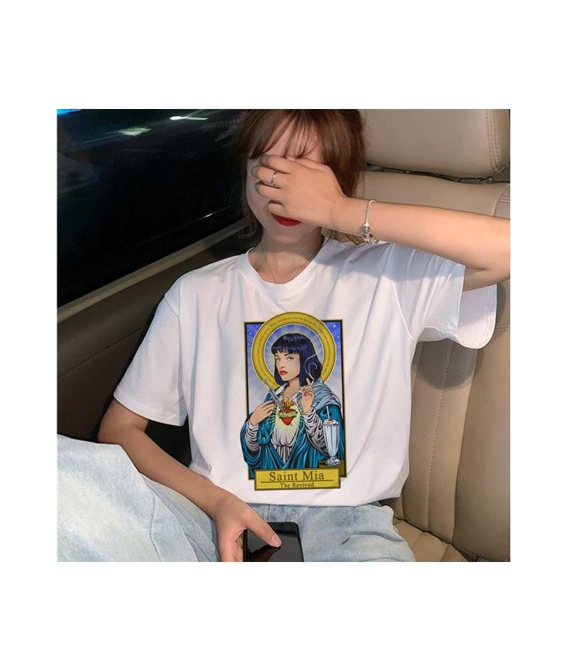 New Pulp Fiction Movie T Shirt Women Harajuku Ullzang 90s Korean T-shirt Aesthetic Funny Print Tshirt Graphic Top Tees Femal...