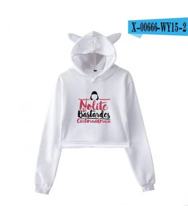 Leisure HIP HOP The Handmaid's Tale Cat Ear Hoodies Sweatshirt High Street Streetwear Women Casual Navel Hoodies Sweatshirts...