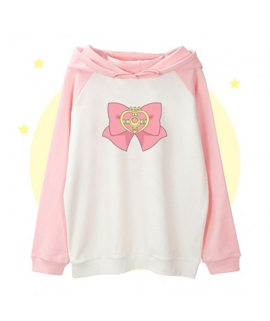 Anime Sailor Moon Crystal Tsukino Usagi Crystal Cute Bow Cosplay Costume Spring&Autumn Sweatshirt Hoodie Women Pullover Coat...