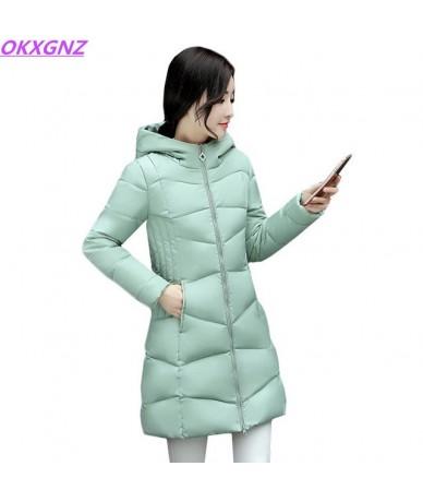 2018 Winter Coats New Fashion Women Down Cotton Jacket Slim Large size Hooded Outwear Students Women Thick Warm Cotton Jacke...