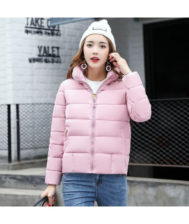 New Winter Short Jacket Women 2018 Fashion Autumn Warm Thicken Cotton Padded Down Parkas Female Top Clothing Coat - Pink No ...