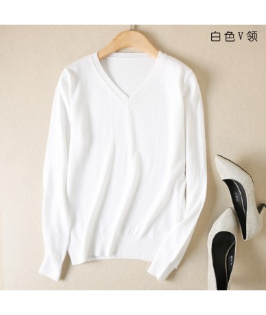 Autumn Cashmere Sweater Women Pullover Winter 2018 New Fashion Soft Solid O-neck Long Sleeve Woolen Knitted Tops Female Jump...