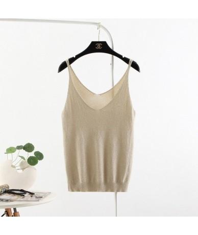 Hot Sale Women Sexy Top New Fashion Sleeveless Camisole Summer Slim V Neck Tank Tops T Shirt Ladies Vest Singlets 3BX008 - J...