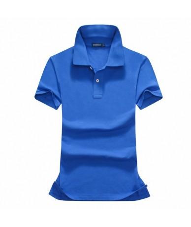 Hot Sale 2019 Summer Polo Shirt Women New Casual Short Sleeve Slim Polos Shirts Tops Female Cotton Polo Shirt Fashion - Blac...