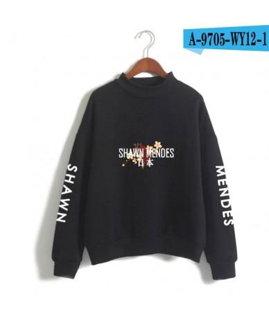Shawn Mendes 2018 Spring Harajuku Turtleneck Sweatshirt Fleece Tracksuit Casual Pullover Oversize Sweatshirts Moleton Femini...