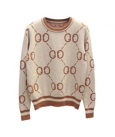 Luxury women Autumn winter sweater famous brand Classic design wool women's sweater fashion designer pull femme hiver - Beig...