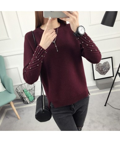 Thick Warm Winter Sweater Women Knitted Pullover Female Jumper Tricot Pullover Women's Winter Tops Pull Femme - Pearl wine r...