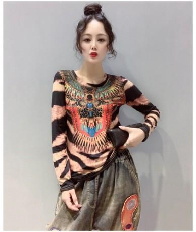 New Fashion 2019 Autumn kawaii long sleeve T-shirt Women's bottoming Korean Clothes Womens shirts Camisas Mujer Printing 302...