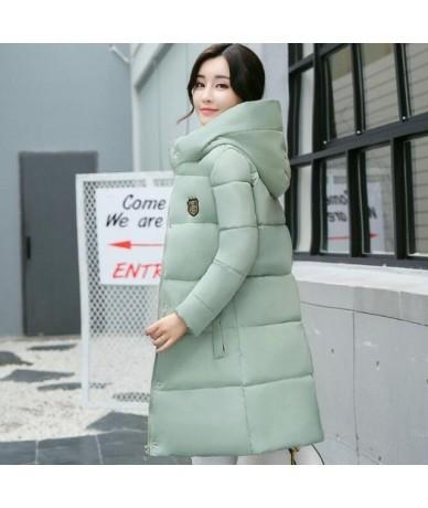 white women winter hooded warm coat plus size candy color cotton padded jacket female long parka womens wadded jaqueta femin...