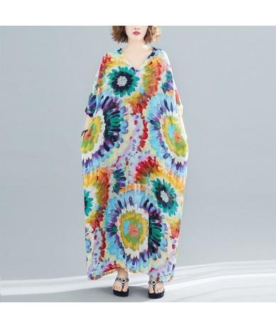 plus size vintage cotton linen floral women summer dress casual loose maxi long elegant clothes 2019 ladies dresses sundress...