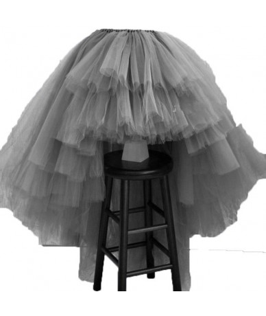 Asymmetrical High Low Tiered Puffy Tulle Skirts For Women Special Designed Floor Length Long Women Skirt Tutu 2017 Custom Ma...