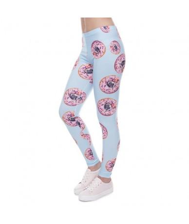Women Leggings Trousers Donuts with pugs Print Legging Blue Leggins Slim High Elasticity Legins Womens Pants - lga41595 - 4H...