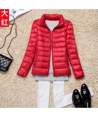 2019 Winter 90% White Duck Down Jacket Women Autumn Slim Warm Coat Lady Ultralight Long Sleeve Down Coat Jacket Female Windp...