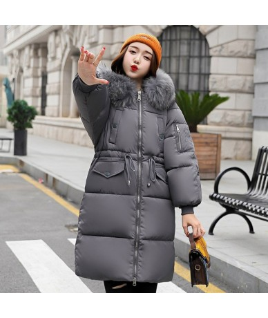 Cotton Padded 2019 New Arrival Fashion Womens Winter Jackets Warm Thicken Hooded Female Long Coats Coat Padded Parka Parkas ...