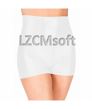 Adult Fuchsia High Waisted Dance Shorts Sexy Wet Look Skinny Rave Booty Stage Performance Shorts Metallic Underpants - White...