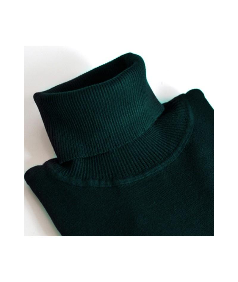 2018 Cashmere Knitted Women Sweater Pullovers Turtleneck Autumn Winter Basic Women Sweaters Korean Style Slim Fit Black - Da...