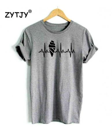 Ice Cream Heartbeat Print Women tshirt Cotton Casual Funny t shirt For Lady Yong Girl Top Tee Higher Quality Drop Ship S-460...