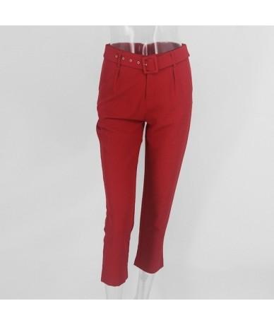 Summer Neon Jumpsuit Women 2019 Long Sleeve Suit Crop Top Casual Romper Summer Blet Tracksuit Top And Pants Set Ladies - Red...