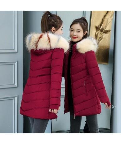 Parka Black 2019 Winter jacket women large fur outerwear long down cotton-padded jacket coat wadded jacket winter coat women...