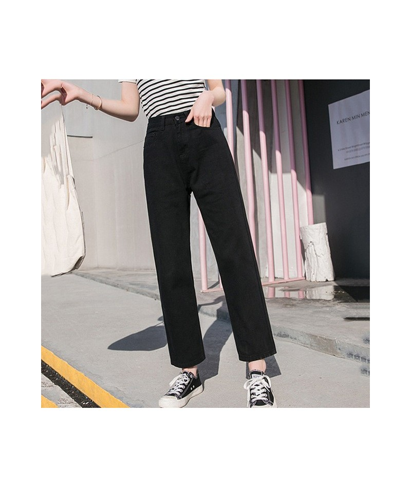 Fall White Mom Jeans Vintage High Waisted Wide Leg Jeans Women Cropped Baggy Straight Leg Jeans Chic Casual Denim Pants - 2 ...