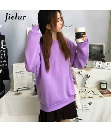 Sweatshirts Women Kawaii Cartoon Print Hoodies Harajuku Korean Casual Loose Simple O-neck Fleece Female Pullover M-XXL - Lav...