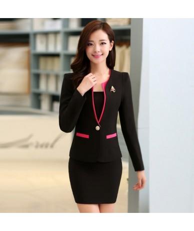 Women Office Uniform Designs Sets Women's Wear Suits Beauty Salon Wholesale Conjuntos Femininos Com Saia Blusas Promotion Ru...