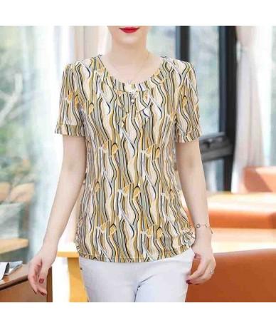 2019 New women summer blouses shirts casual print o-neck short sleeve womens clothes blusas mujer de moda - Color 20 - 42300...