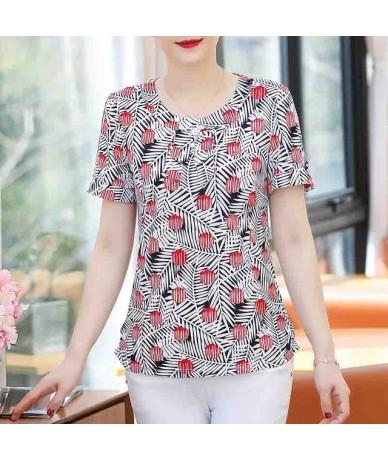 2019 New women summer blouses shirts casual print o-neck short sleeve womens clothes blusas mujer de moda - Color 23 - 42300...