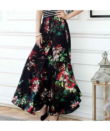 Summer slim fluid wide leg pants female trousers fancy plus size wide-leg pants feet straight casual boot cut - color 1 - 4E...