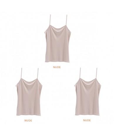 3pcs/lot Women silk Camis Natural silk Basic Camisoles Comfortable Silk tank tops 2019 Summer halter top Black White Nude Pi...