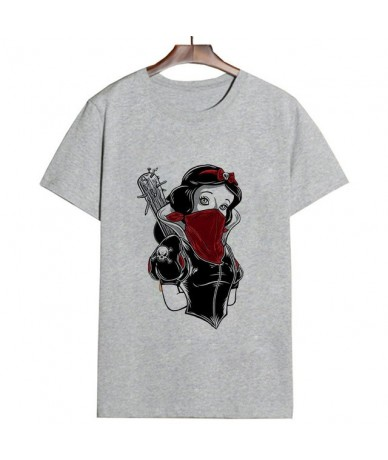 Summer Thin Section Fashion T Shirt Women Tattoo Princess Funny Humor Aesthetic Female T-shirt Leisure Round Neck Tshirt - 1...