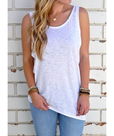 2018 New Arrival Summer Women Sexy Sleeveless Backless Shirt Knotted Tank Top Blouse Sexy Vest Tops Tshirt Open Back t shirt...