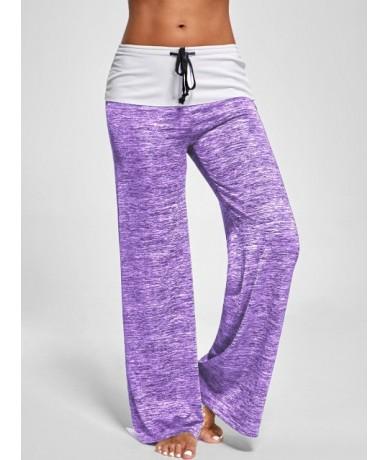 Women Pants Workout Causal Autumn Long Pants Drawstring Wide Leg Pants Loose Straight Trousers Female Plus Size Trousers 3XL...