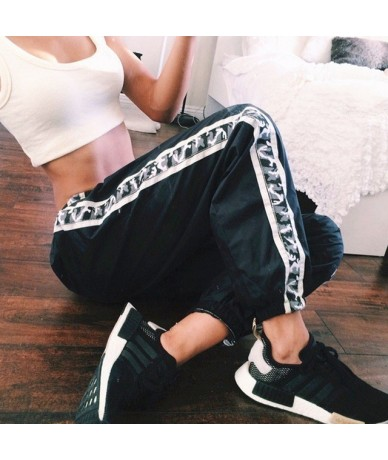 Casual Black Baggy Sweatpants Women Loose Cotton Side Striped High Waist Joggers Women Trousers Pantalon Femme Streetwear 20...