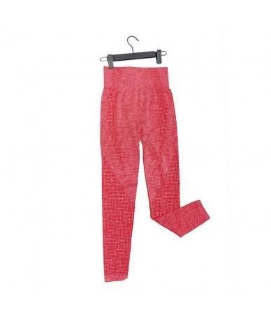 Women Seamless Leggings High Waist Push Up Pants High Waist Sportswear Leggings Workout Running Sexy Leggings - 9149 Red - 4...