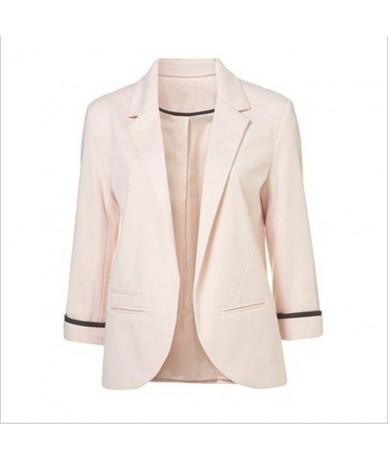 Open Front Notched Blazer 2019 autumn Women Formal Jackets Office Work Slim Fit Blazer white Ladies suits 11 colors size S-X...